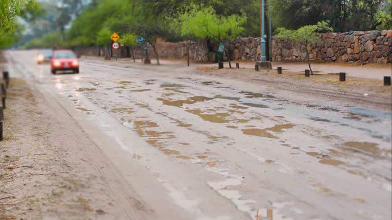 Camino Real en día de lluvia