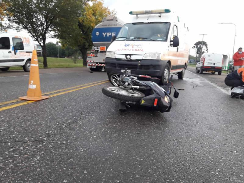 Accidente de motociclista