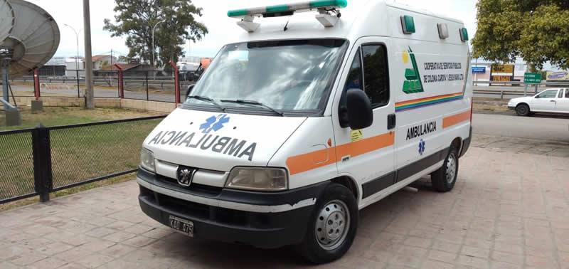Ambulancia donada al Hospital