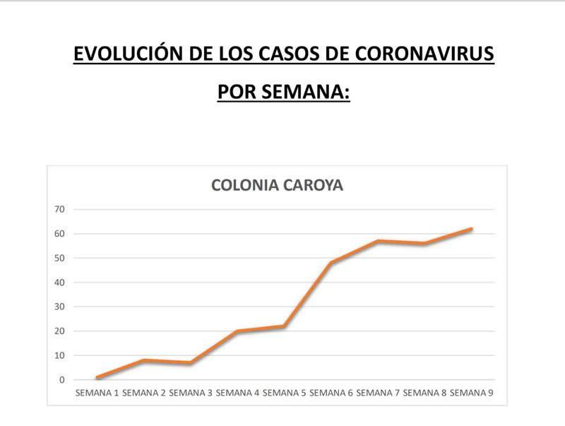 Evolución de casos por semana CC